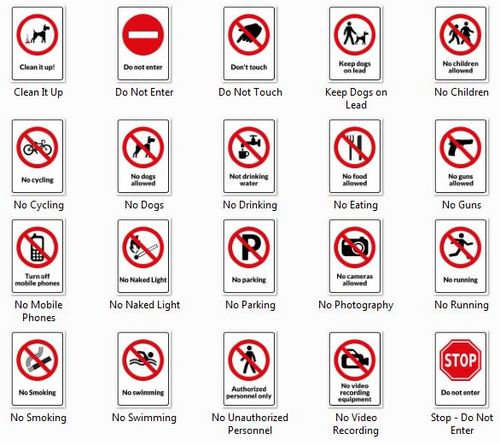 Product picture 20 Warning Signs - Printable Templates