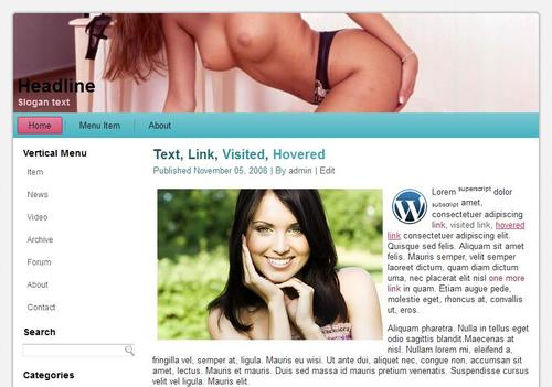 Product picture 60 Adult Erotic xxx Wordpress Themes - 2013 / 2014 NEW