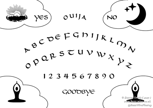 Product picture Ouija Board Pyrography Stencil