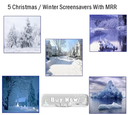Product picture 5 Christmas Screensavers 2011