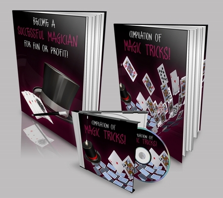 Product picture Magic Tricks Template with 2 PLR eBook and Audio Book