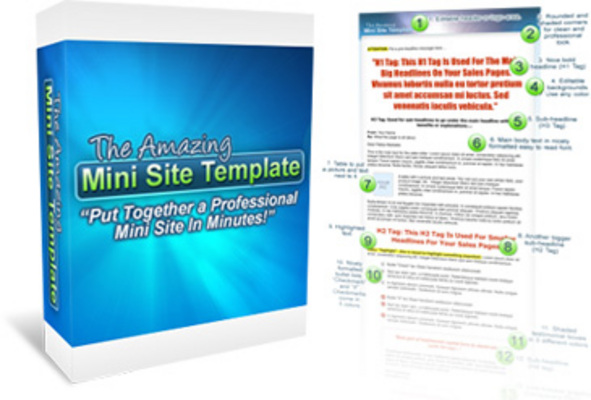 Product picture The Amazing Mini Site Template