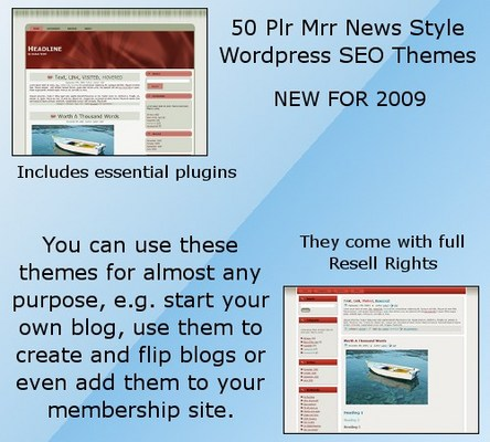 Product picture 50 Plr Mrr News Style Wordpress SEO  Themes