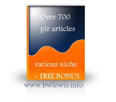 Product picture 700 plr articles various niche + FREE BONUS
