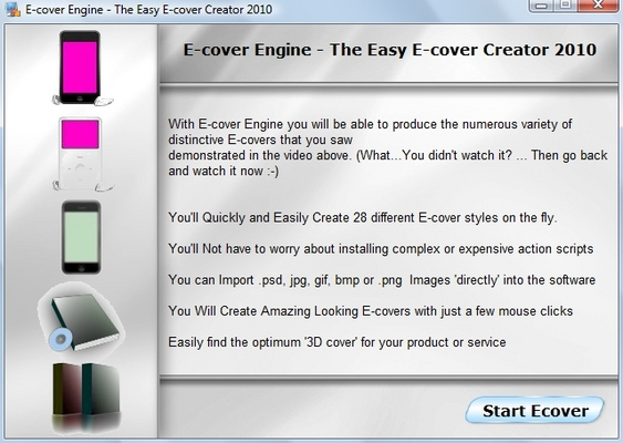 Product picture E-cover Engine - The Easy E-cover Creator 2011