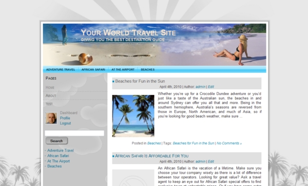 Product picture Summer Travel - Wordpress theme + over 6000 travel articles